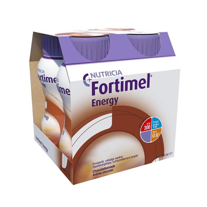 Image of Fortimel Energy Chocolade Flesjes 4x200ml