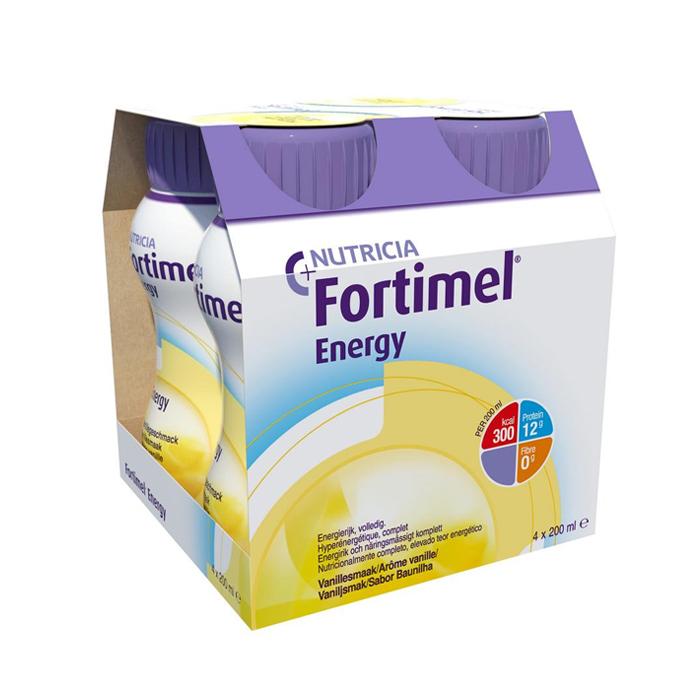 Image of Fortimel Energy Vanille Flesjes 4x200ml