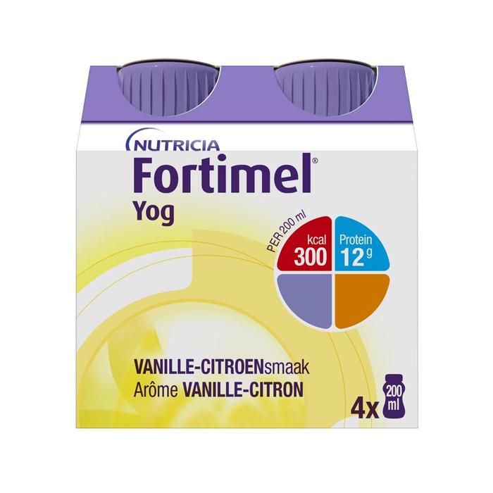 Image of Fortimel Yog Vanille-citroen Flesjes 4x200ml