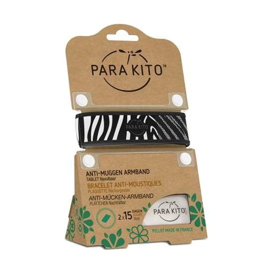 Image of Para'kito Anti-Muggen Armband Zebra + 2 Navullingen