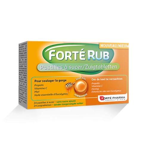 Image of Forté Pharma Forté Rub Honing 24 Keeltabletten