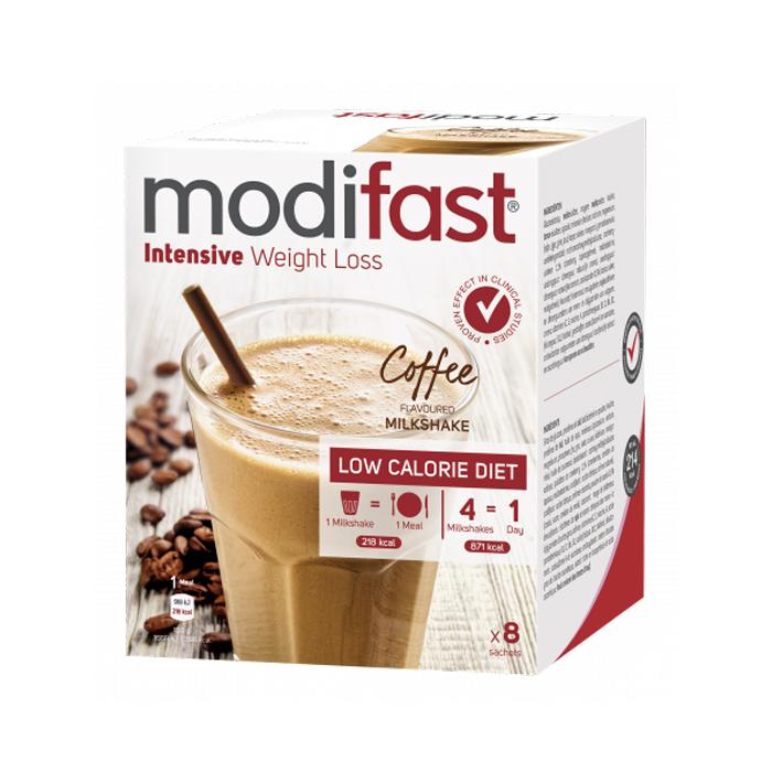 Image of Modifast Intensive Milkshake Koffie 8x55g