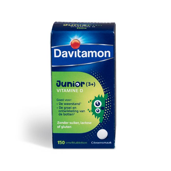 Image of Davitamon Junior Vitamine D 150 Smelttabletten