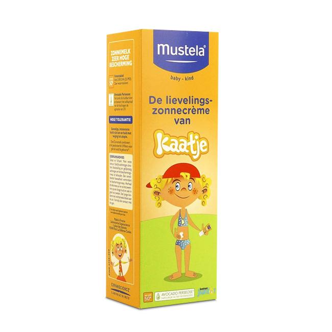 Image of Mustela Baby Zonnemelk Kaatje Zeer Hoge Bescherming SPF50+ 40ml