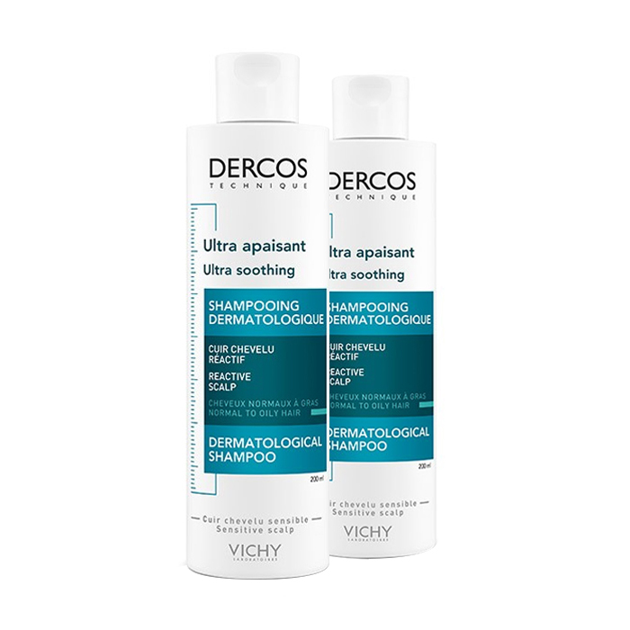 Image of Vichy Dercos Ultra Kalmerend Vet Haar Shampoo Duo Promo 2e -50% 2x200ml