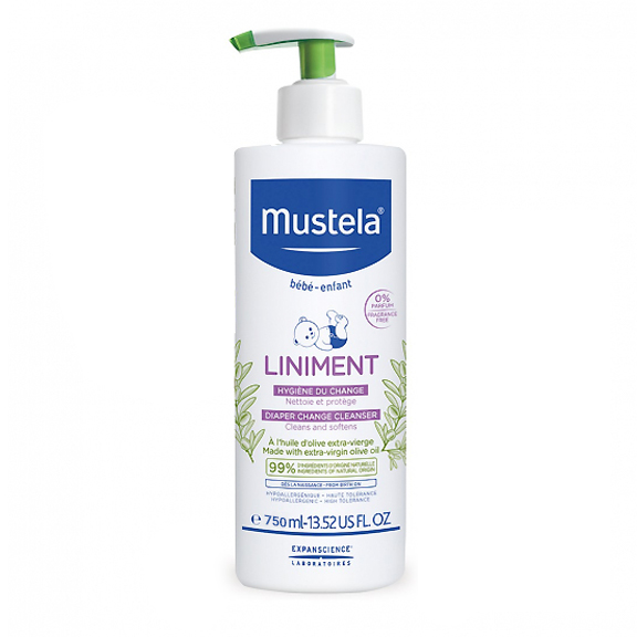 Image of Mustela Liniment Baby Pompfles 750ml