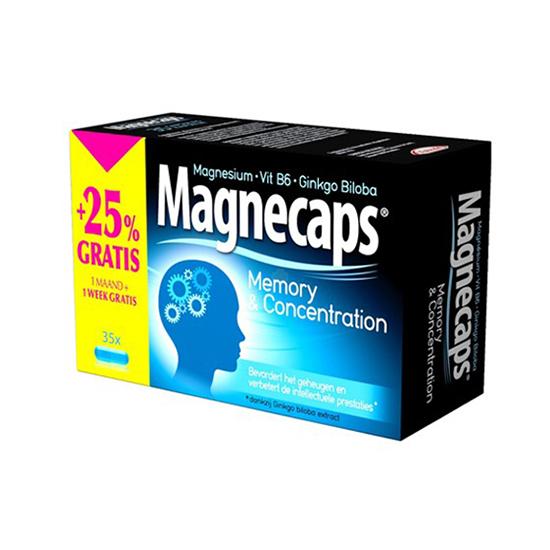 Image of Magnecaps Geheugen & Concentratie 35 Tabletten Promo + 1 Week GRATIS