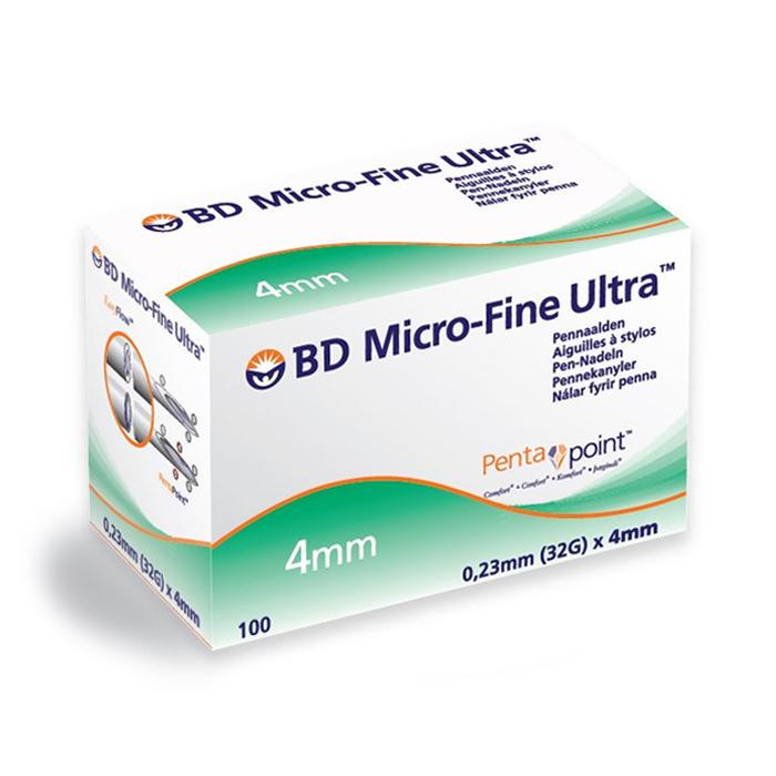 Image of BD Micro-Fine Ultra Pennaald 4mm 32g Easyflow 100 Stuks