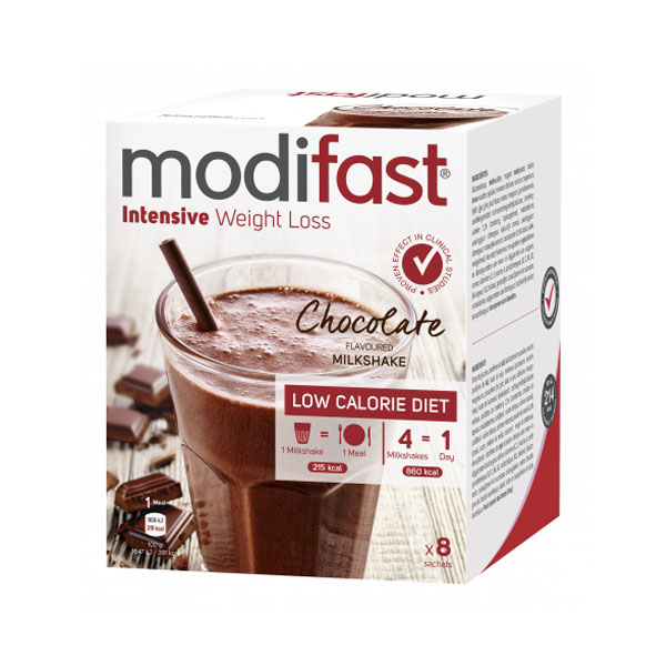 Image of Modifast Intensive Milkshake Chocolade 8x55g