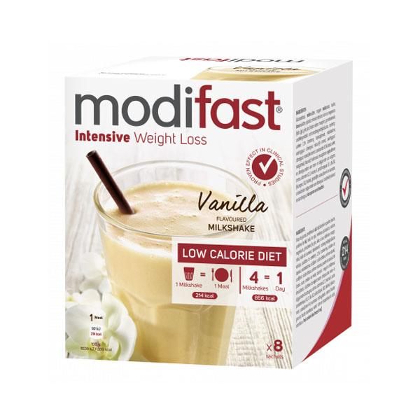 Image of Modifast Intensive Milkshake Vanille 8x55g