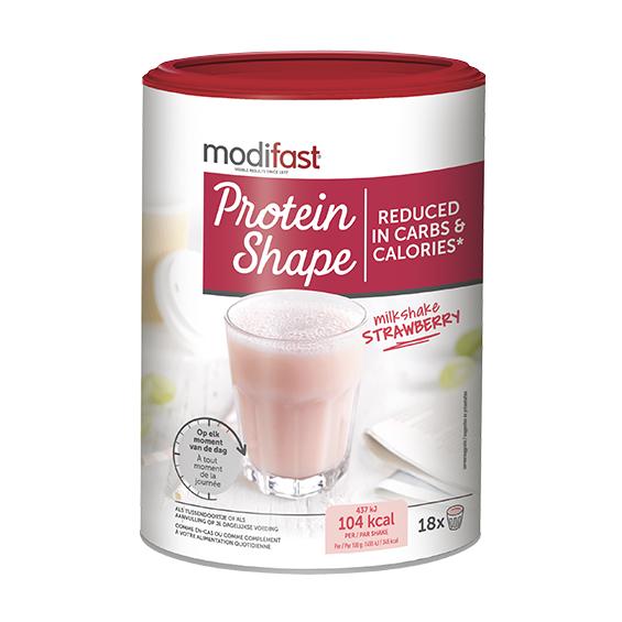 Image of Modifast Protein Shape Milkshake Aardbei 540g
