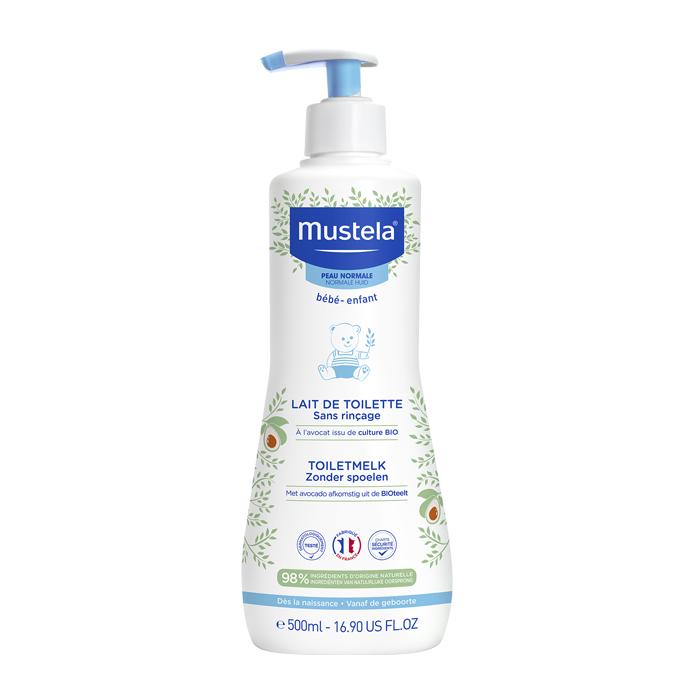 Image of Mustela Bébé Toiletmelk Zonder Spoelen - Normale Huid 500ml