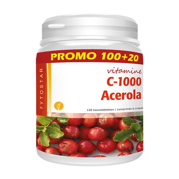 Image of Fytostar Vitamine C 1000 Acerola Promo 100 Tabletten + 20 GRATIS