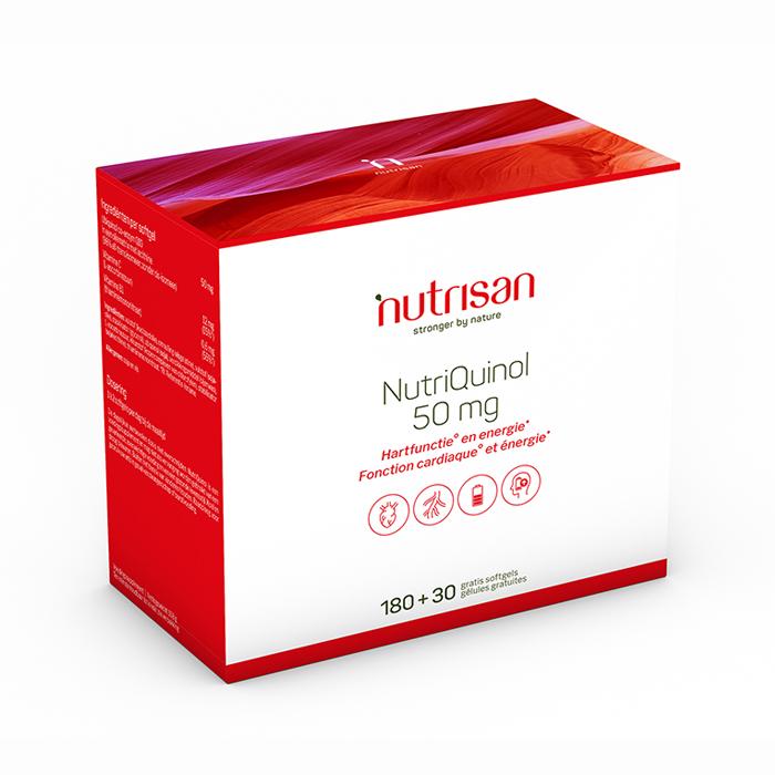 Image of Nutrisan NutriQuinol 50mg 180 + 30 Capsules Gratis