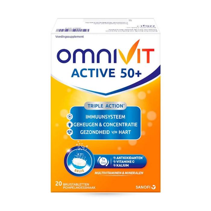Image of Omnivit Active 50+ 20 Bruistabletten
