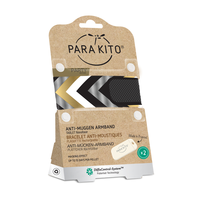 Image of Para'kito Anti-Muggen Armband Party Berlin + 2 Navullingen