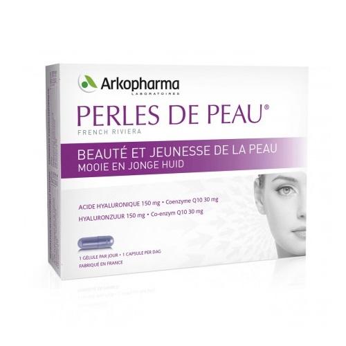 Image of Arkopharma Perles de Peau Hyaluronzuur + Co-Enzym Q10 30 Capsules