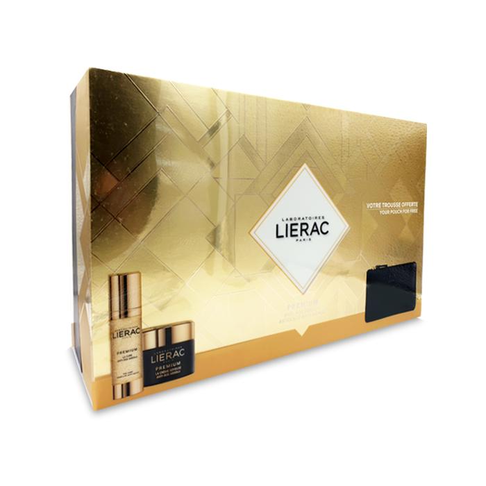 Image of Lierac Premium Geschenkkoffer La Cure 30ml + Crème Soyeuse 50ml -50% + GRATIS Opbergtasje