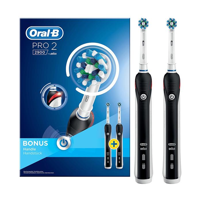 Image of Oral-B Pro 2 2900 Duopack Elektrische Tandenborstel 2 Stuks
