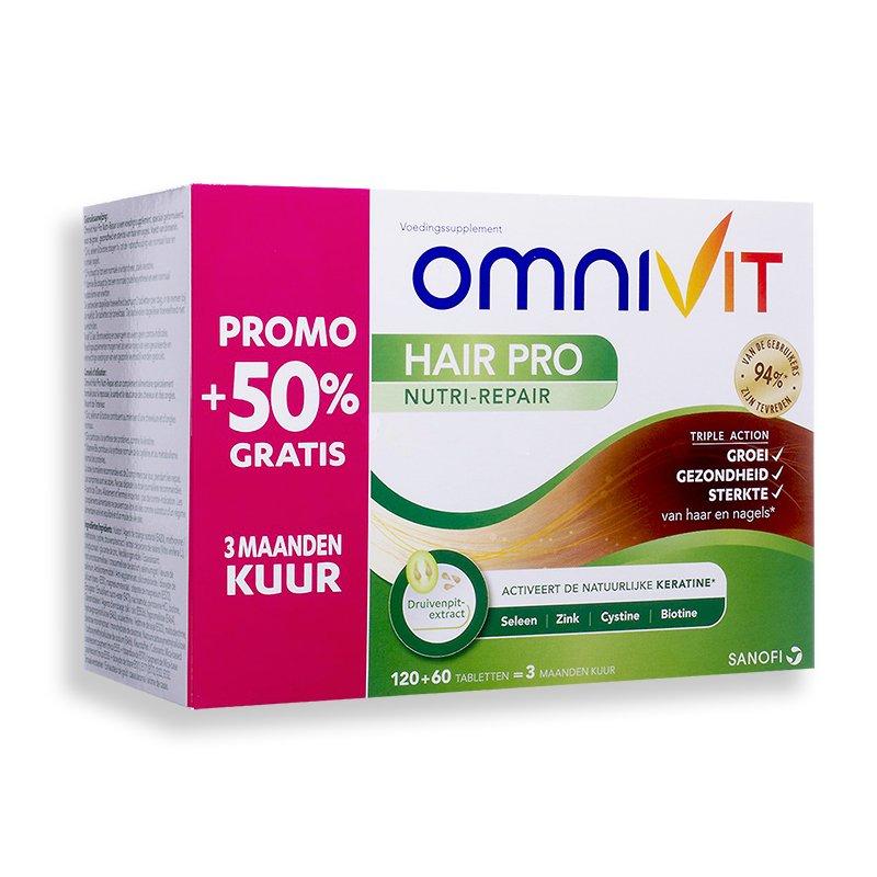 Image of Omnivit Hair Pro Nutri-Repair 120 Tabletten + 60 Gratis