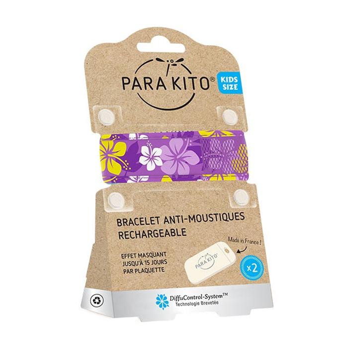 Image of Para'kito Kids/ Teens Anti-Muggen Armband Purple Hawaï + 2 Navullingen