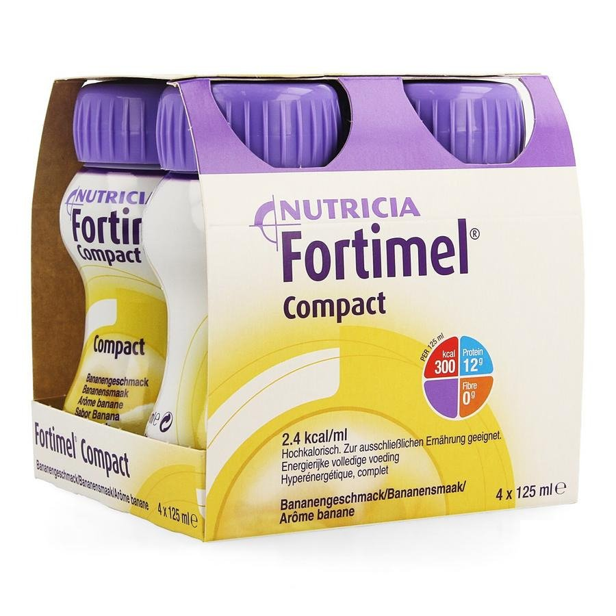 Image of Fortimel Compact Banaan 4x125ml