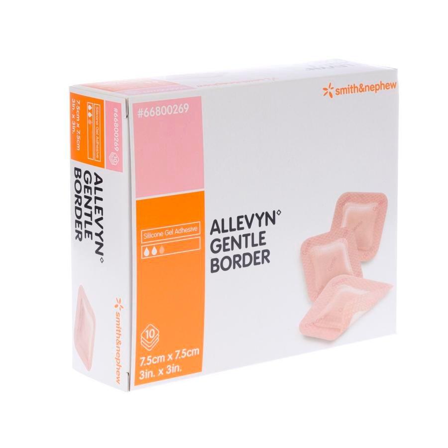 Image of Allevyn Gentle Border 7,5x7,5cm 10 Stuks