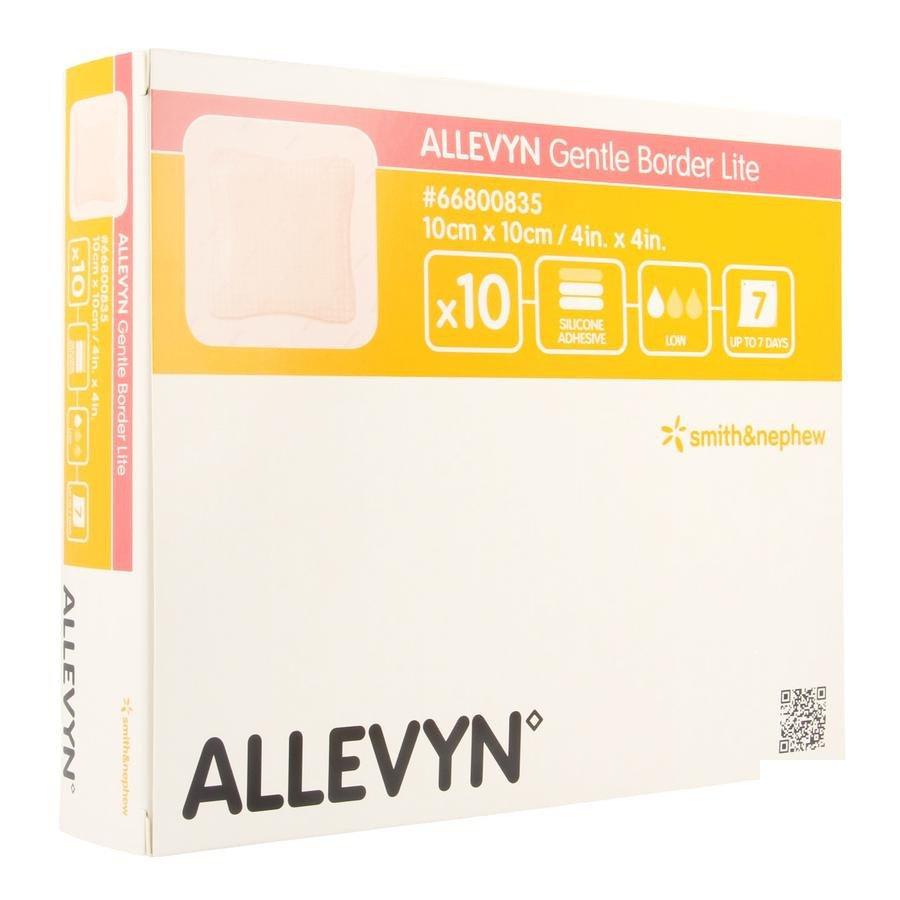 Image of Allevyn Gentle Border Lite 10x10cm 10 Stuks