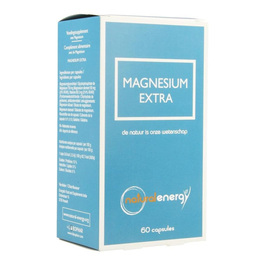 Image of Natural Energy Magnesium Extra 60 Capsules