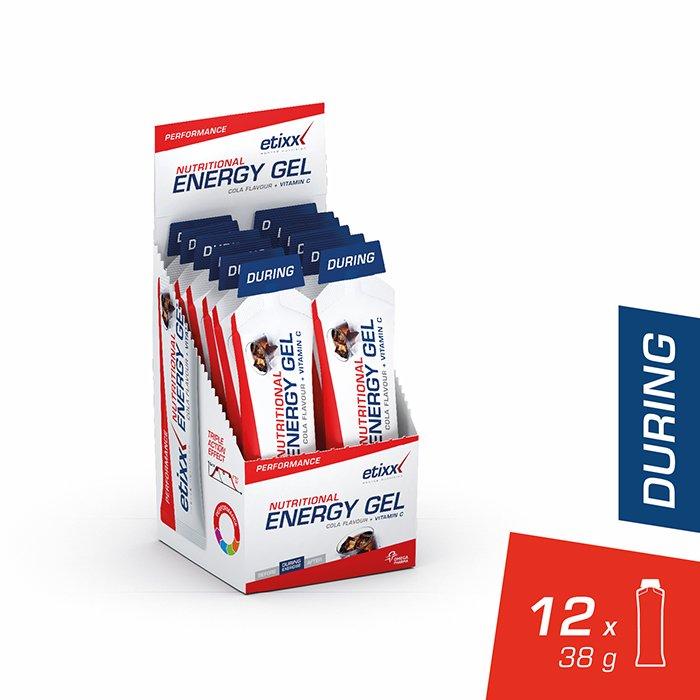 Image of Etixx Nutritional Energy Gel Cola 12x38g
