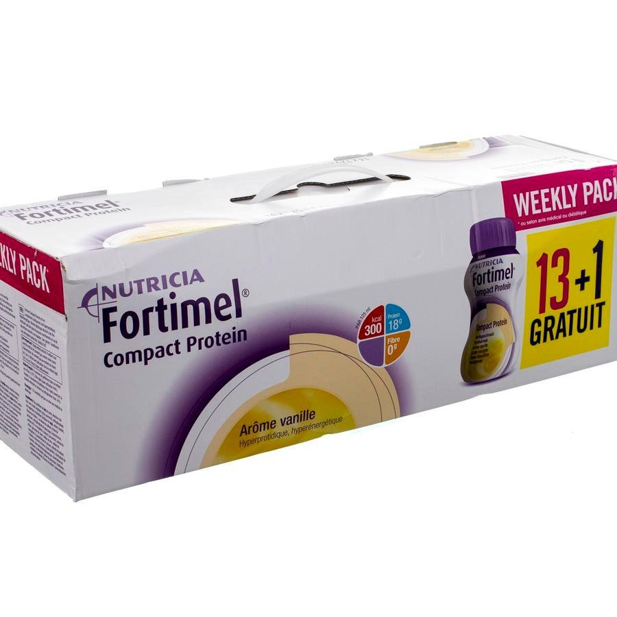Image of Fortimel Compact Protein Week Pack Vanille 14x125ml
