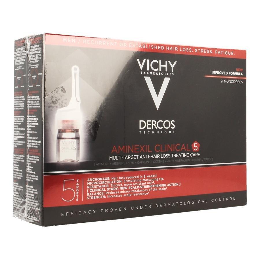 Image of Vichy Dercos Aminexil Clinical 5 Men 21x6ml Ampullen