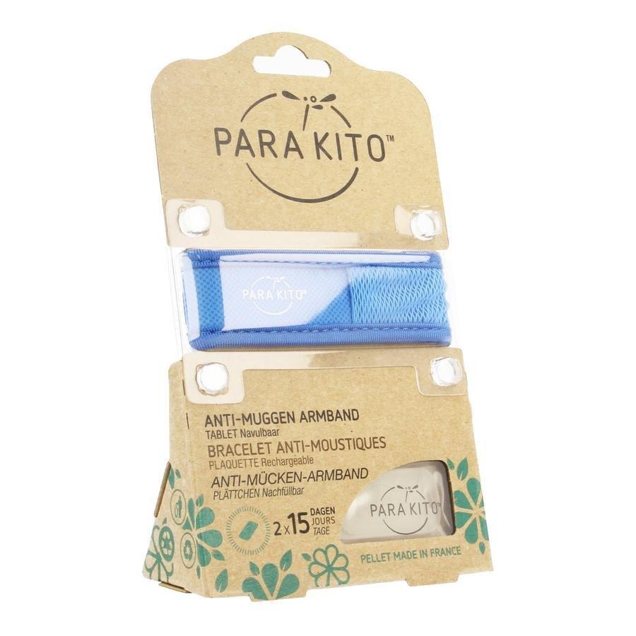 Image of Para'kito Anti-Muggen Armband Blauw + 2 Navullingen