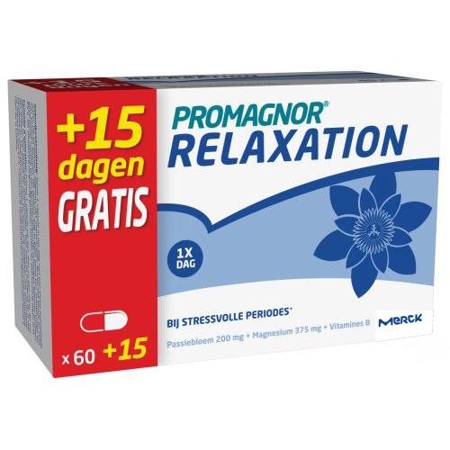 Image of Promagnor Relaxation 60 Capsules + 15 Capsules Gratis