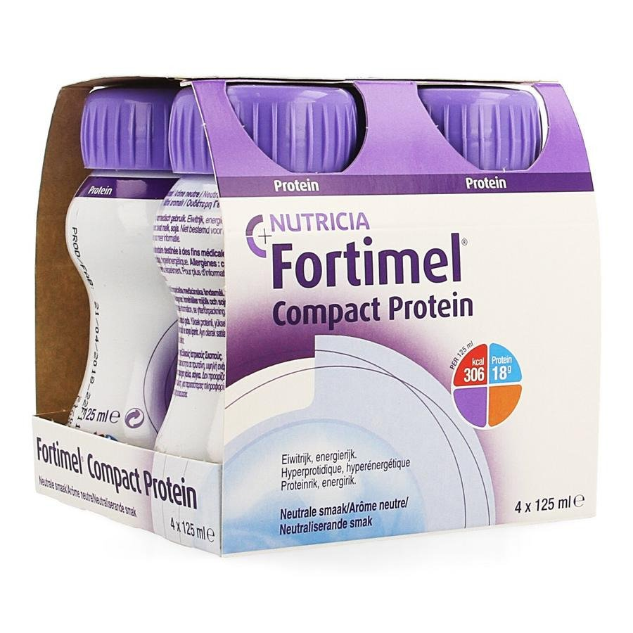 Image of Fortimel Compact Protein Neutraal 4x125ml