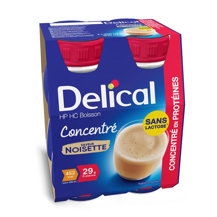 Image of Delical Geconcentreerde Drink HP-HC Hazelnoot 4x200ml