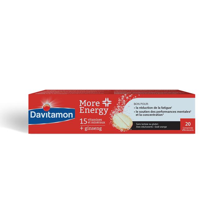 Image of Davitamon More Energy Bruistabletten 20 Stuks