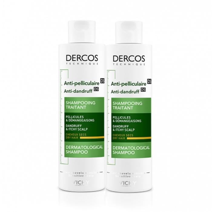 Image of Vichy Dercos Anti-Roos Shampoo Droog Haar Duopack 2x200ml Promo 2de -40%