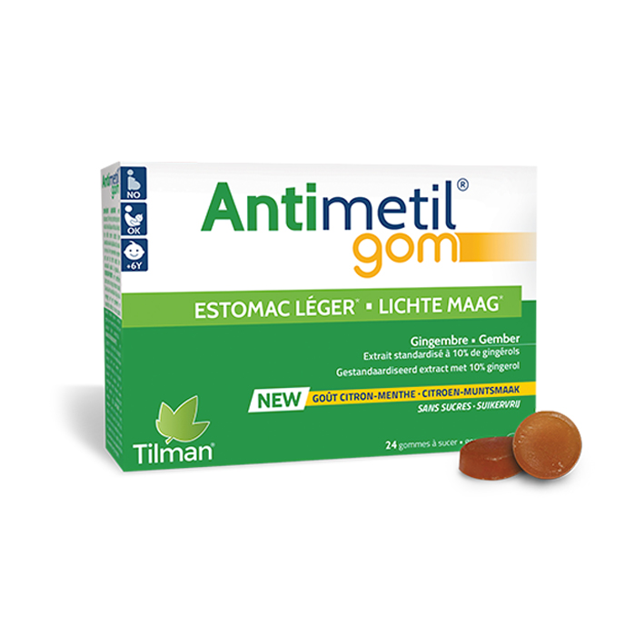 Image of Antimetil Lichte Maag Citroen/ Munt 24 Gommetjes