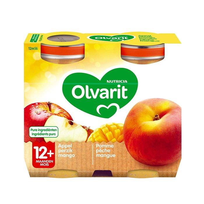 Image of Olvarit Fruitpap Appel/ Perzik/ Mango 12M+ 2x200g
