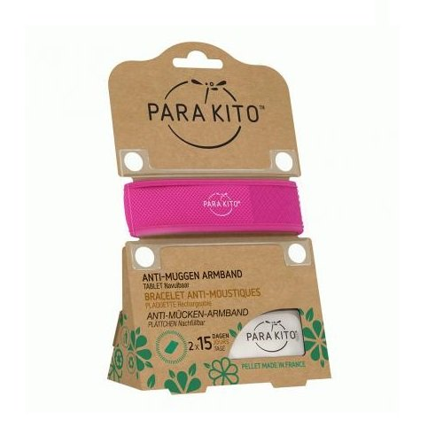 Image of Para'kito Anti-Muggen Armband Fuchsia + 2 Navullingen