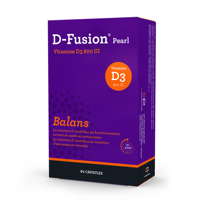Image of D-Fusion Pearl Balans 800IE 84 Capsules