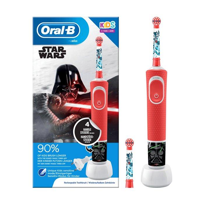 Image of Oral-B Kids D100 Elektrische Tandenborstel Star Wars 1 Stuk + 1 Extra Opzetborstel