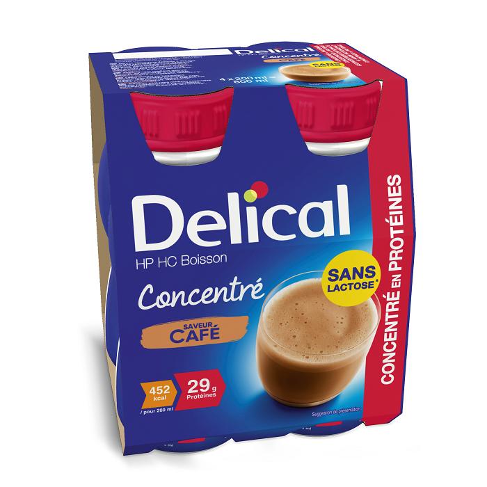 Image of Delical Geconcentreerde Drink HP-HC Koffie 4x200ml