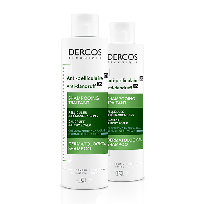 Image of Vichy Dercos Anti-Roos DS Shampoo Normaal/Vet Haar Duo Promo 2e -50% 2x200ml