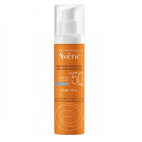 Image of Avène Zon Fluide SPF50+ Zonder Parfum 50ml