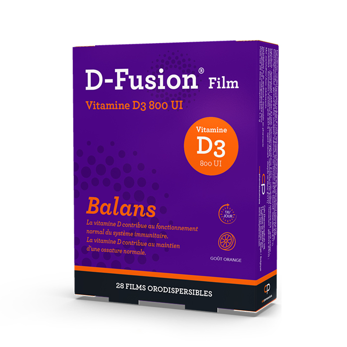Image of D-Fusion Film Balans 800IE Orodispergeerbare Films 28 Stuks