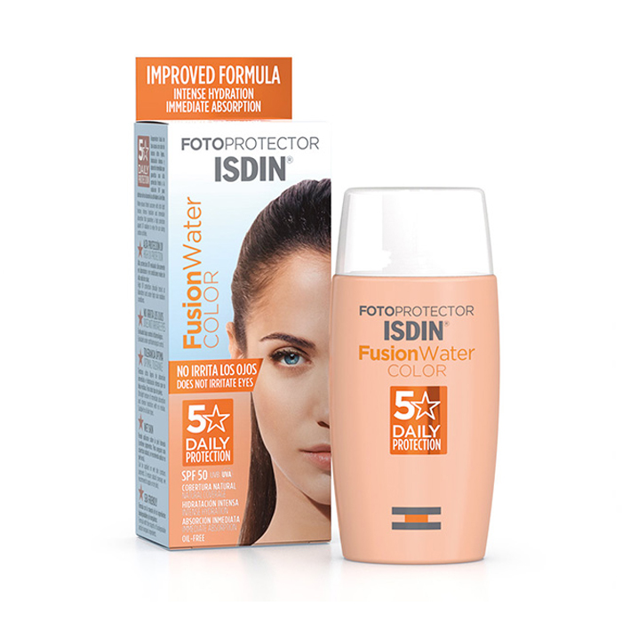 Image of Isdin Fotoprotector Fusion Water 5 Star Color SPF50 50ml
