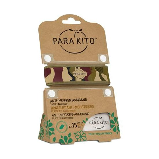 Image of Para'kito Anti-Muggen Armband Camouflage + 2 Navullingen
