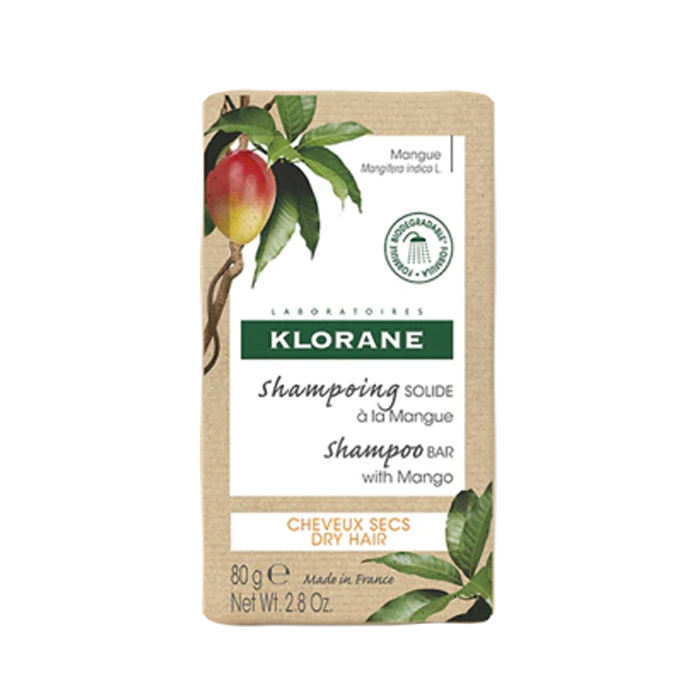 Image of Klorane Shampoobar Mango - Droog Haar 80g